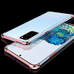 Ultra-thin Transparent TPU Soft Case Cover S02 for Samsung Galaxy S20 Plus 5G Rose Gold