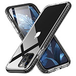 Ultra-thin Transparent TPU Soft Case Cover S03 for Apple iPhone 12 Pro Black