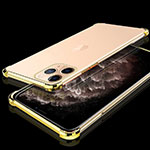 Ultra-thin Transparent TPU Soft Case Cover S05 for Apple iPhone 11 Pro Gold