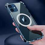 Ultra-thin Transparent TPU Soft Case Cover with Mag-Safe Magnetic for Apple iPhone 12 Clear