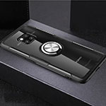 Ultra-thin Transparent TPU Soft Case Cover with Magnetic Finger Ring Stand S02 for Huawei Mate 20 Pro Mixed