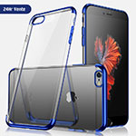 Ultra-thin Transparent TPU Soft Case H04 for Apple iPhone 8 Blue