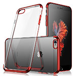 Ultra-thin Transparent TPU Soft Case H04 for Apple iPhone 8 Red