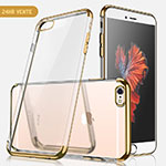 Ultra-thin Transparent TPU Soft Case H04 for Apple iPhone SE (2020) Gold