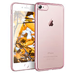 Ultra-thin Transparent TPU Soft Case H11 for Apple iPhone 8 Rose Gold