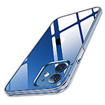 Ultra-thin Transparent TPU Soft Case T04 for Apple iPhone 12 Clear