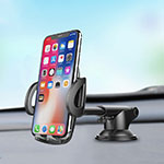 Universal Car Suction Cup Mount Cell Phone Holder Cradle H11 Silver
