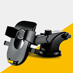 Universal Car Suction Cup Mount Cell Phone Holder Cradle H20 Black