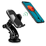 Universal Car Suction Cup Mount Cell Phone Holder Cradle H23 Black