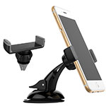 Universal Car Suction Cup Mount Cell Phone Holder Cradle M08 Gray