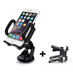Universal Car Suction Cup Mount Cell Phone Holder Stand M11 Black