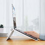 Universal Laptop Stand Notebook Holder K11 for Apple MacBook Pro 15 inch Silver