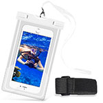 Universal Waterproof Cover Dry Bag Underwater Pouch W03 White