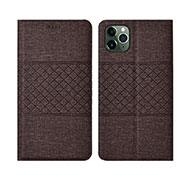 Cloth Case Stands Flip Cover H01 for Apple iPhone 11 Pro Brown