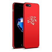 Hard Rigid Plastic Case Flowers Cover for Apple iPhone SE (2020) Red