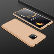 Hard Rigid Plastic Matte Finish Front and Back Cover Case 360 Degrees for Huawei Mate 20 Pro Gold