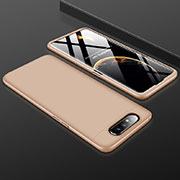 Hard Rigid Plastic Matte Finish Front and Back Cover Case 360 Degrees for Samsung Galaxy A80 Gold