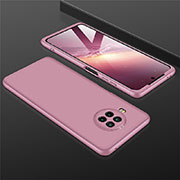 Hard Rigid Plastic Matte Finish Front and Back Cover Case 360 Degrees M01 for Xiaomi Mi 10T Lite 5G Rose Gold