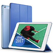 Leather Case Stands Flip Cover for Apple New iPad Pro 9.7 (2017) Blue