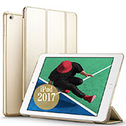 Leather Case Stands Flip Cover for Apple New iPad Pro 9.7 (2017) Gold