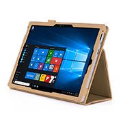 Leather Case Stands Flip Cover for Microsoft Surface Pro 4 Gold