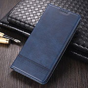 Leather Case Stands Flip Cover K03 Holder for Huawei Mate 40 Pro Blue