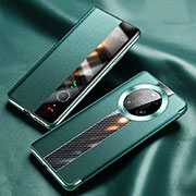 Leather Case Stands Flip Cover K05 Holder for Huawei Mate 40 Pro Cyan