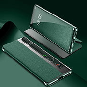 Leather Case Stands Flip Cover K07 Holder for Huawei Mate 40 Pro Green