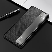 Leather Case Stands Flip Cover K08 Holder for Huawei Mate 40 Pro Black
