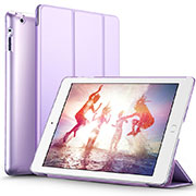 Leather Case Stands Flip Cover L01 for Apple iPad 2 Purple