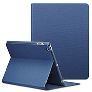Leather Case Stands Flip Cover L02 for Apple iPad 2 Blue