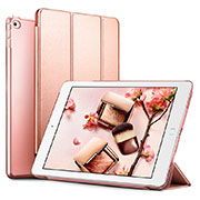 Leather Case Stands Flip Cover L05 for Apple iPad Mini 4 Rose Gold