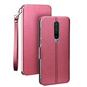 Leather Case Stands Flip Cover L05 Holder for Xiaomi Redmi K30 5G Hot Pink