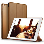Leather Case Stands Flip Cover L06 for Apple iPad Mini 3 Brown