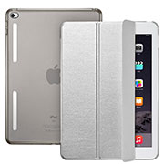 Leather Case Stands Flip Cover L06 for Apple iPad Mini 4 Silver