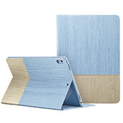 Leather Case Stands Flip Cover L06 for Apple iPad Pro 10.5 Sky Blue