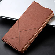 Leather Case Stands Flip Cover L06 Holder for Xiaomi Redmi K30 5G Brown