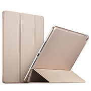 Leather Case Stands Flip Cover L08 for Apple iPad Mini 4 Gold