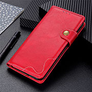 Leather Case Stands Flip Cover L08 Holder for OnePlus 8T 5G Red