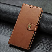 Leather Case Stands Flip Cover T04 Holder for Xiaomi Mi 10 Pro Brown