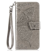 Leather Case Stands Flip Cover T07 Holder for Xiaomi Mi 10 Pro Gray