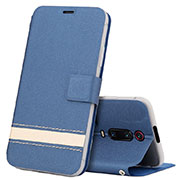 Leather Case Stands Flip Cover T09 Holder for Xiaomi Mi 9T Pro Blue