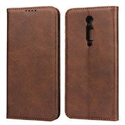 Leather Case Stands Flip Cover T10 Holder for Xiaomi Mi 9T Pro Brown