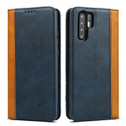 Leather Case Stands Flip Cover T11 Holder for Huawei P30 Pro Blue
