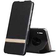 Leather Case Stands Flip Cover T12 Holder for Huawei Mate 30 Pro Black