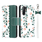 Leather Case Stands Flip Cover T15 Holder for Huawei P30 Pro Green