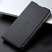 Leather Case Stands Flip Cover T15 Holder for Xiaomi Redmi Note 8 Pro Black