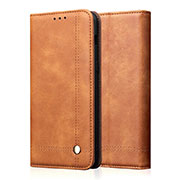Leather Case Stands Flip Cover T19 Holder for Apple iPhone 11 Pro Orange