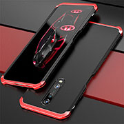 Luxury Aluminum Metal Cover Case for Xiaomi Redmi K30 5G Red and Black