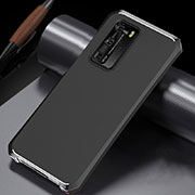 Luxury Aluminum Metal Cover Case N02 for Huawei P40 Pro Silver and Black